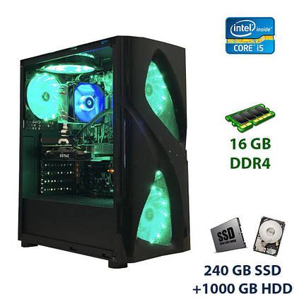 Golden 5LED Fan Tower / Intel Core i5-6500T (4 ядра по 2.5 - 3.1 GHz) / 16 GB DDR4 / 240 GB SSD+1000 GB HDD /, фото 2