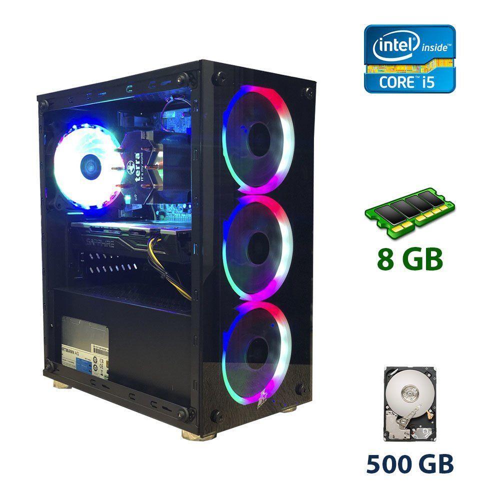 1Stplayer X2-R1 RGB LED 4Fan Tower NEW / Intel Core i5-3470T (2 (4) ядра по 2.9 - 3.6 GHz) / 8 GB DDR3 / 500