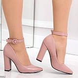 Эффектные нарядные нюдовые розовые туфли на каблуке, фото 4
