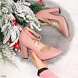 Эффектные нарядные нюдовые розовые туфли на каблуке, фото 10