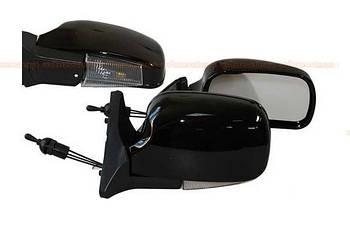 Автомобільні дзеркала бокові ВАЗ 01-07 чорний глянець ( з поворотом LED ЗБ 3107П складаються ) 2шт