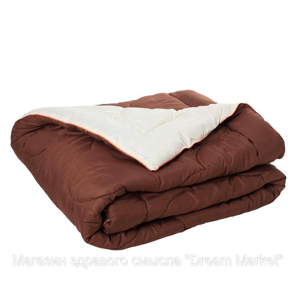 Одеяло гипоаллергенное Сон казака зимнее теплое: микрофибра и шерстипон, (цвет коричневый, бежевый) 200х220 см