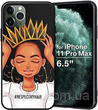 """Чехол силиконовый XIX для iPhone 12 Pro Max (6.7""""), Queen Girls"""