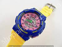 Детские часы Casio Baby G BA-111 5338 (013544) розовый желтый синий водонепроницаемые