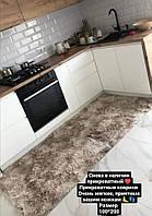 Прикроватный коврик 100х200 | Антискользящий коврик | Ковер на кухню | Теплый коврик с большим ворсом 100х200
