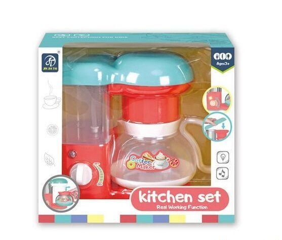 "Кофеварка ""Kitchen Set"" свет, течёт водичка, на батарейках, в коробке 7912"