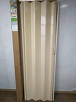 Двері гармошкою РОЗСУВНА колір№6 Ясен розмір 810*2030*6 мм