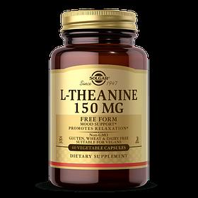 L-теанін L-Theanine Solgar, 150 мг, 60 рослинних капсул