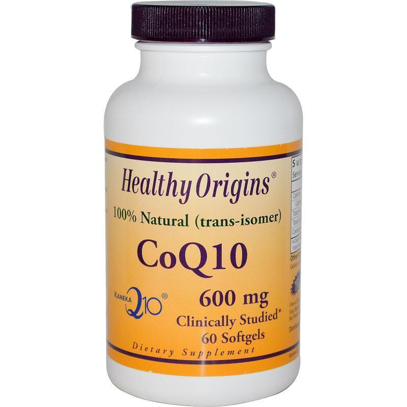 Коензим Q10 600мг, Healthy Origins, 60 желатинових капсул