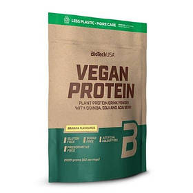 Рослинний протеїн BioTech Vegan Protein (2000 р) биотеч веган банан