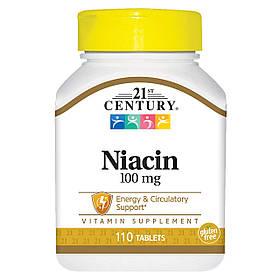 Ніацин 21st Century Niacin 100 mg (110 таб) 21 століття центурі