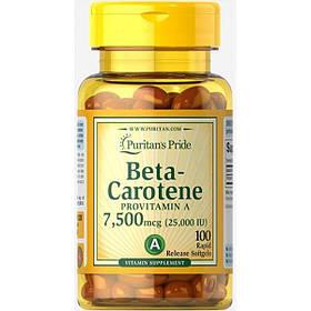 Бета-каротин Puritan's Pride Beta-Carotene 25000 IU (100 капс) пуританс прайд