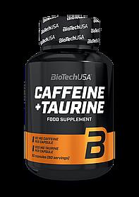 Кофеїн з таурином BioTech Caffeine + Taurine (60 капс)