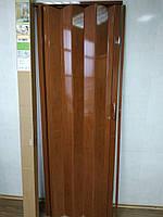 Двері гармошка розсувна пластикова Черешня №7 810х2030х6 мм, фото 1
