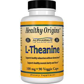 Теанін 100мг, Healthy Origins, 90 гельових капсул