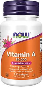 Вітамін Now Foods А Vitamin A 25 000 IU (250 softgels) нау фудс