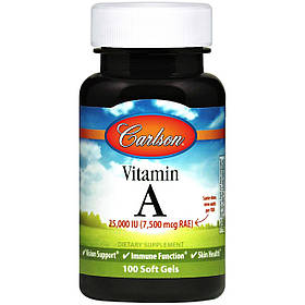 Вітамін А Carlson Labs Vitamin A 7 500 mcg (100 капс) карлсон лабс