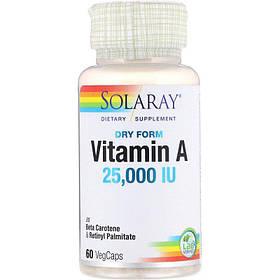 Dry Form Vitamin A 25 000 IU - 60 VegCaps