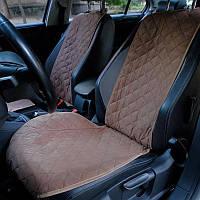 Накидки на сидения из Алькантары коричневые на передние