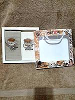 Набор кухонных вафельных полотенец Niltex  40х60 Кофе 2шт.