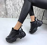 Кроссовки массивные черные, фото 1