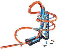Игровой набор Трек Хот Вилс Небоскреб Падение с Башни Hot Wheels Sky Crash Tower Track Set