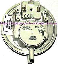 Прессостат повітря вентилятора 20/10 Ра 3 кл. (б ф.у, EU) Bosch, Buderus, Demrad, арт. PS19I, к. з. 0050/1