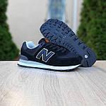 Женские кроссовки New Balance 574 (черные) 20254, фото 8