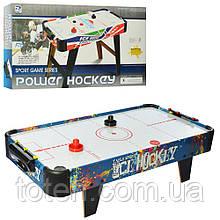Хоккей воздушный деревянный 85-42,5-21,5 см Power Hockey 3005B  работает от батареек Т