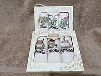 Набір кухонних вафельних рушників Niltex 30х50 Кави 3шт., фото 1