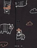 Хлопковый слип с ножками Gеоrgе   6-9м  68-74см., фото 5