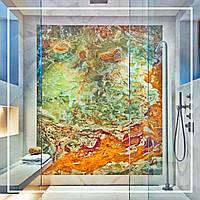 Стена из оникса с подсветкой в душ кабине., фото 1