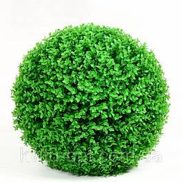 Искусственный самшитовый шар густой  салатовый  44 см