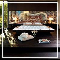 Живописный оникс в спальне с подсветкой., фото 1
