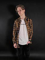 Мужская рубашка в клетку Casual Brown