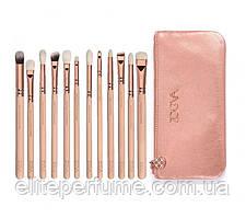 Набор кистей Zoeva Rose Golden Complete Eye для макияжа в косметичке 12шт