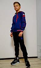 Спортивные костюмы Polo для мальчиков и подростков, синяя кофта черные штаны