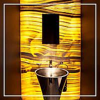 Панно из оникса с подсветкой в санузле., фото 1