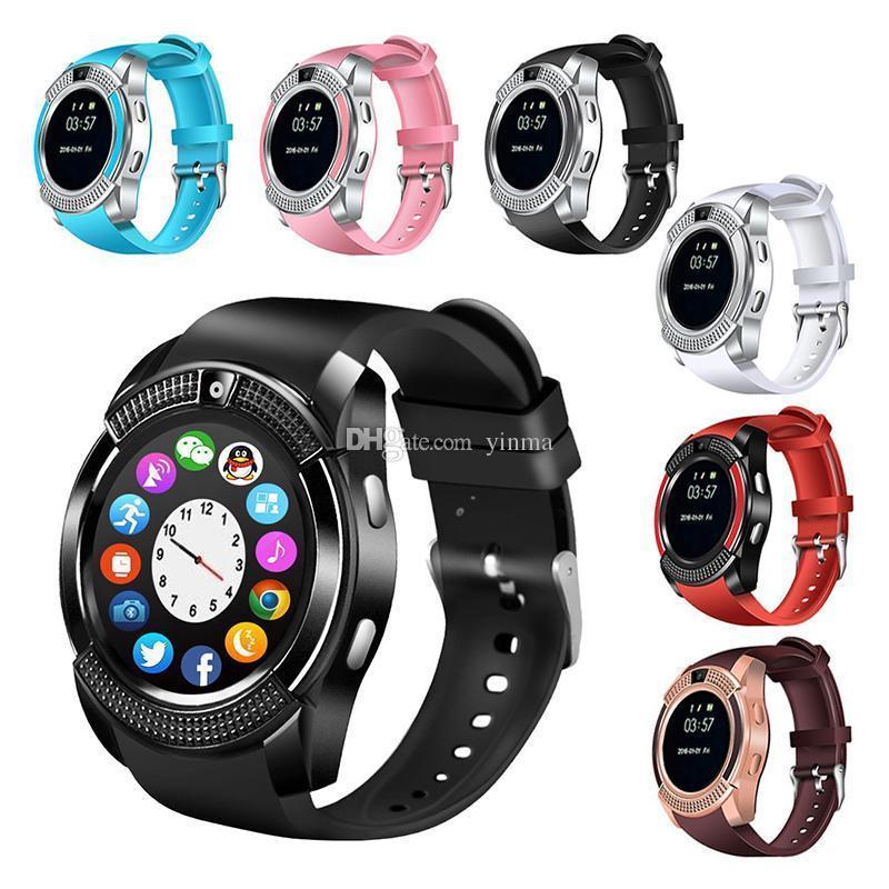 Сенсорные Smart Watch V8 смарт часы умные часы Черный