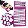 Масажний ортопедичний килимок з подушкою Acupressure Mat Ортопедический массажный коврик 65 см*41 см, фото 4