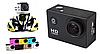 Экшн камера A7 FullHD + аквабокс + Регистратор Полный компект+крепление шлем ЧЕРНАЯ, фото 8