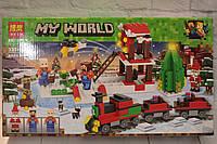 """Конструктор Bela (Lari) """"Minecraft"""" Новогодний экспресс, 335 деталей, в коробке, фото 1"""