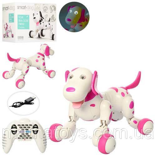 Интерактивная Собака 777-338 Розовая на радиоуправлении Happy Cow Smart Dog