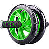 Гимнастическое спортивное фитнес колесо Double wheel Abs health abdomen round | Тренажер-ролик для мышц, фото 4