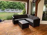 Комплект садовой мебели Allibert by Keter Provence Box Set Graphite ( графит ) искусственный ротанг, фото 4
