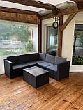 Комплект садовой мебели Allibert by Keter Provence Box Set Graphite ( графит ) искусственный ротанг, фото 9