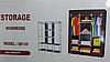 Складной каркасный тканевый шкаф Storage Wardrobe 88130, шкаф на три секции 130*45*175, фото 8