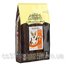 Home DOG Food ADULT MEDIUM «Індичка і лосось» корм для середніх собак здорова шкіра і блиск шерсті 3кг