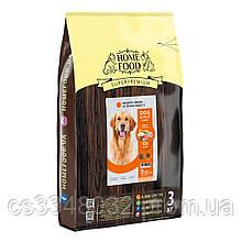 Home Food DOG ADULT MAXI  «Индейка и лосось» корм для крупных собак здоровая кожа и блеск шерсти 3кг