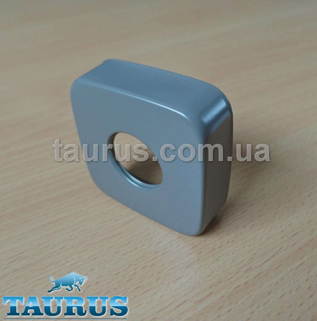 "Большой квадратный декоративный серый фланец CUBE 60x60х20 gray d25 мм (3/4"") чашка, розета. TAURUS"